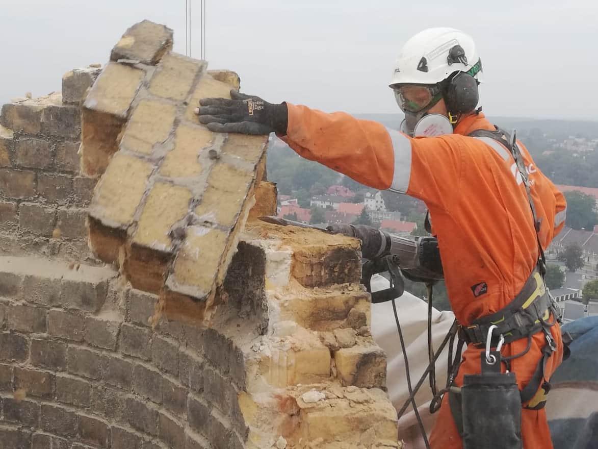 Prace na wysokościach, rozbiórka kominów, Climbnet